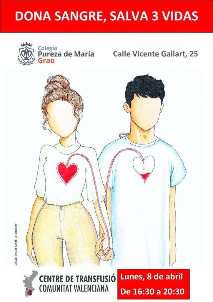 Colegio Pureza de María Grao centro de donación de sangre