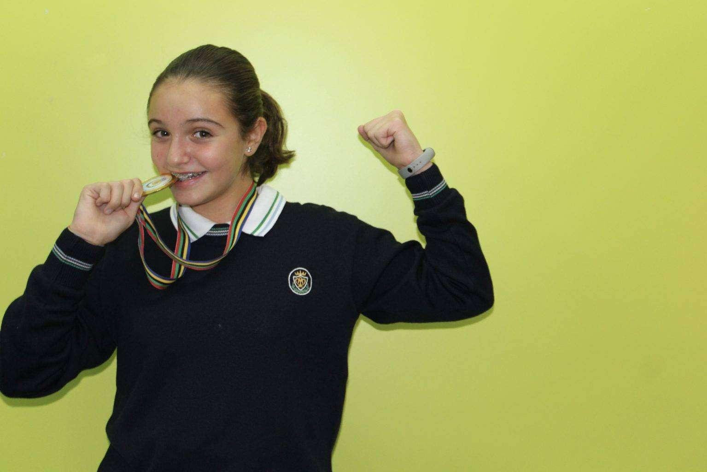 Alumna Pureza de María Grao medalla de oro en halterofilia