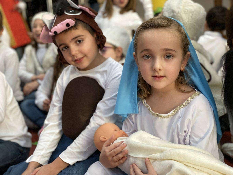 Disfraz virgen María y Buey primaria
